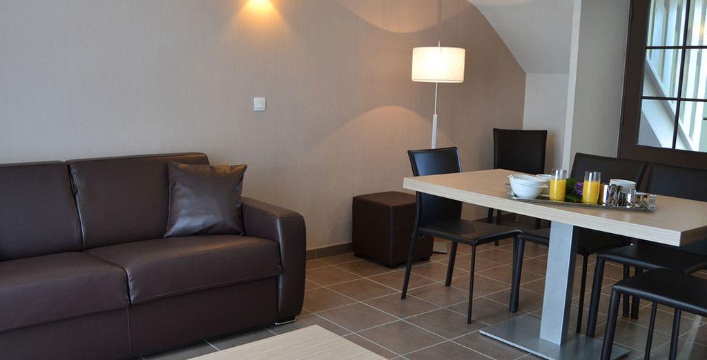 En famille ou entre amis, installez-vous dans des appartements confortables