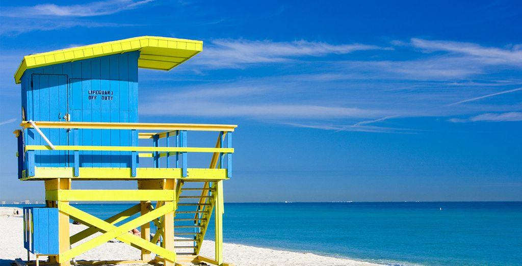 Puis rejoignez les plages de Miami