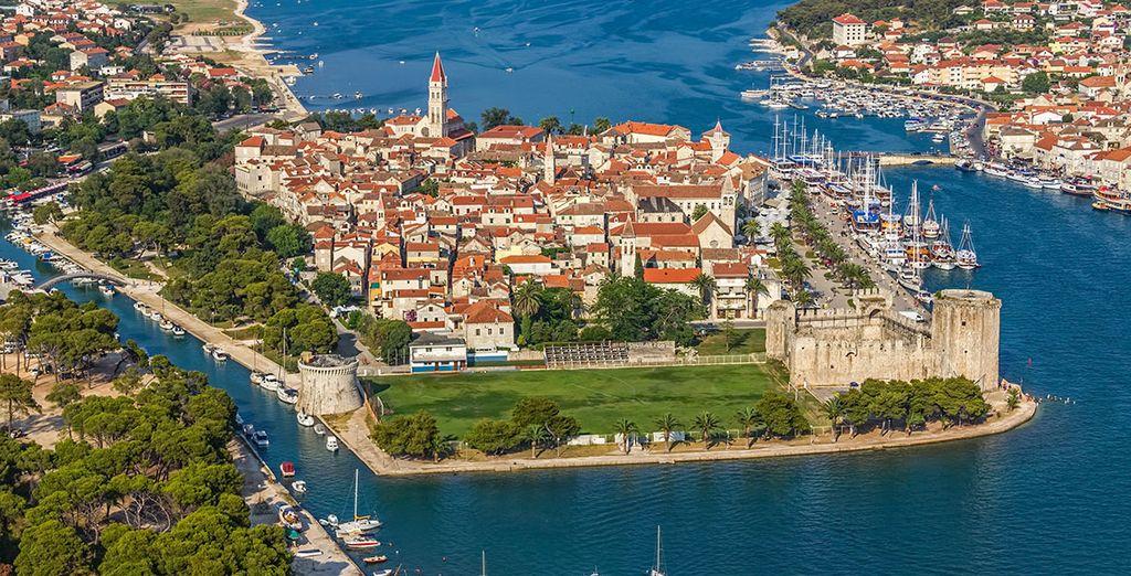 Photographie de la ville de Trogir en Croatie
