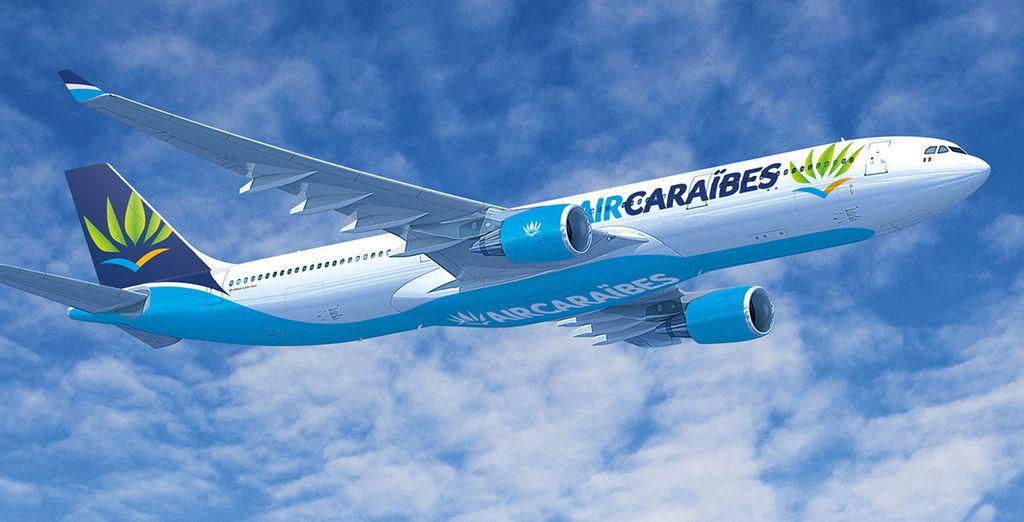 Pour rejoindre cette terre chaleureuse, choisissez de vous envoler au départ de Paris avec Air Caraibes