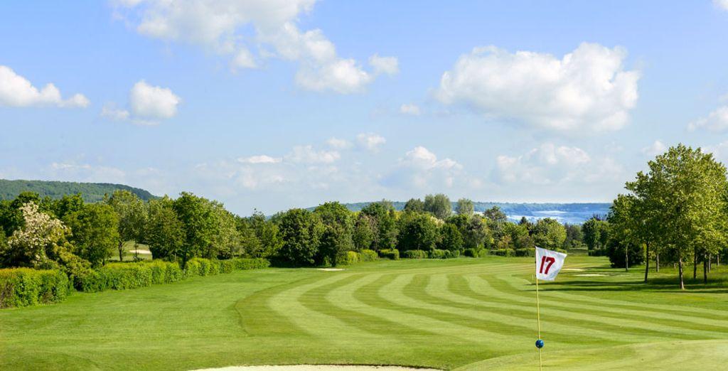 Et son sublime domaine, avec un golf de 75 hectares