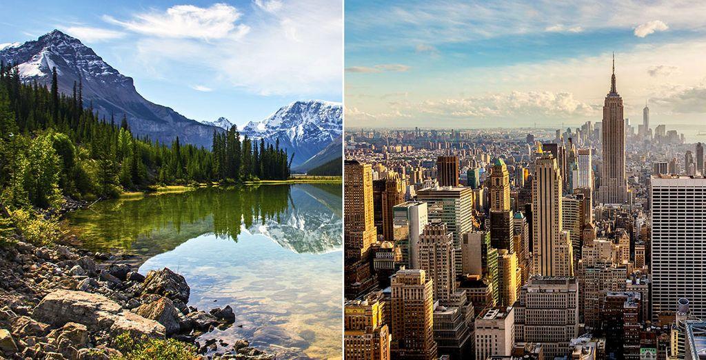 Les deux visages de l'Amérique du Nord ...