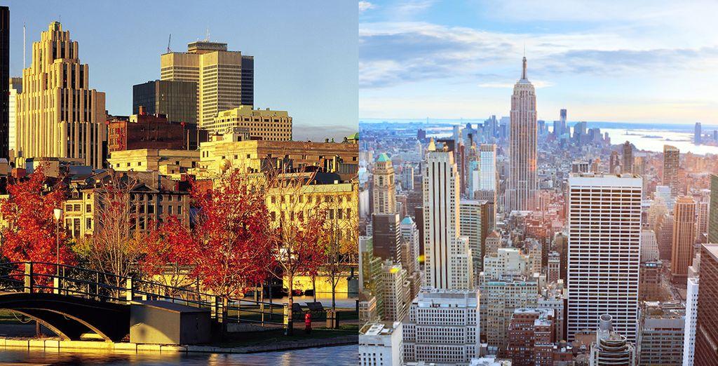 Offrez-vous le luxe de découvrir à la fois Montréal... et New York