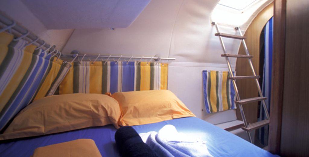 La cabine : la chambre