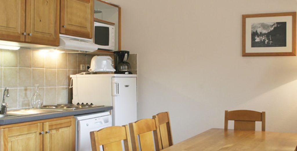 L'appartement : la cuisine