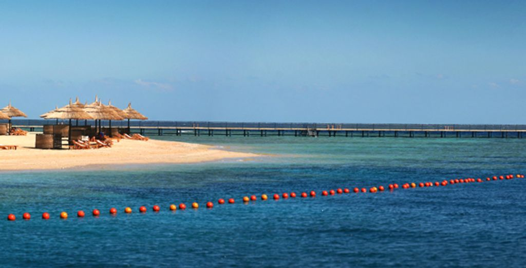 Le lagon face à l'hôtel - Hôtel Crowne Plaza Sahara Oasis ***** Marsa Alam