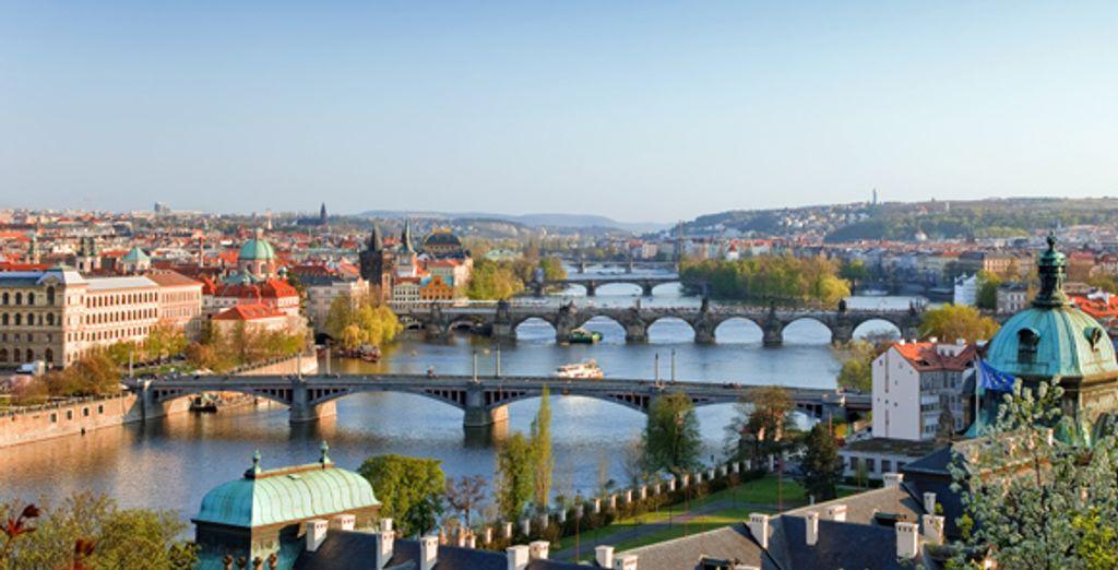 Une vue générale de Prague