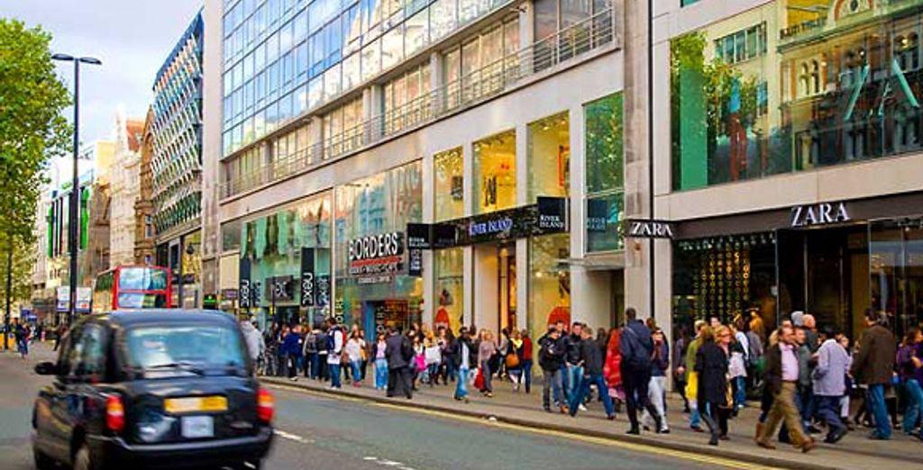 La fameuse Oxford Street et ses boutiques