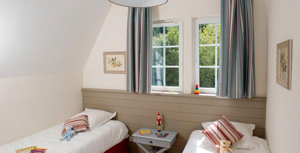 Découvrez des chambres confortables et chaleureuses