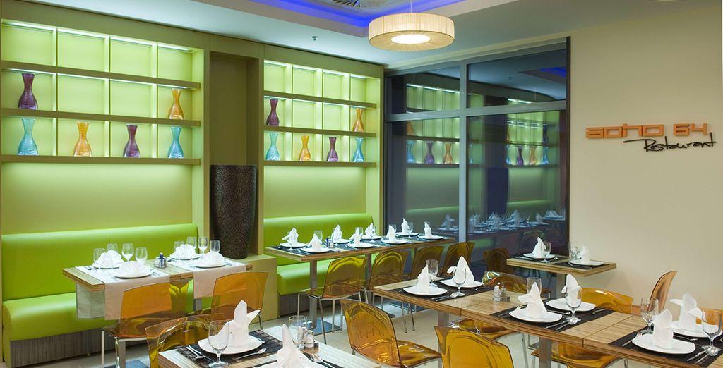 Décoration acidulée au restaurant - Soho Boutique Hotel **** Budapest