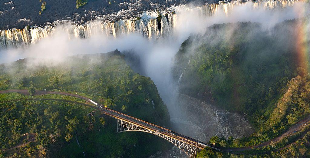 Ou préférez la beauté des chutes d'eau Victoria Falls