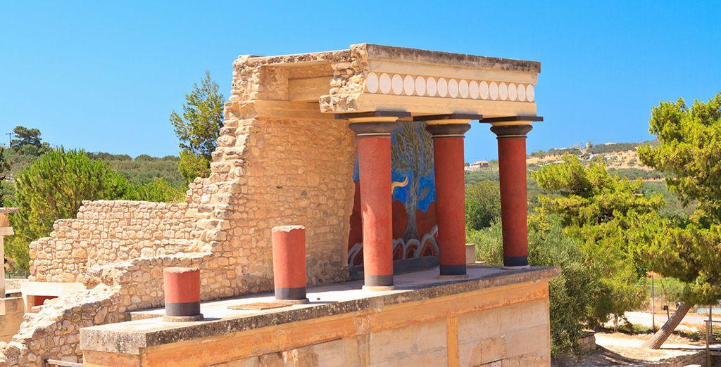 Avec ses vestiges de la civilisation minoenne...