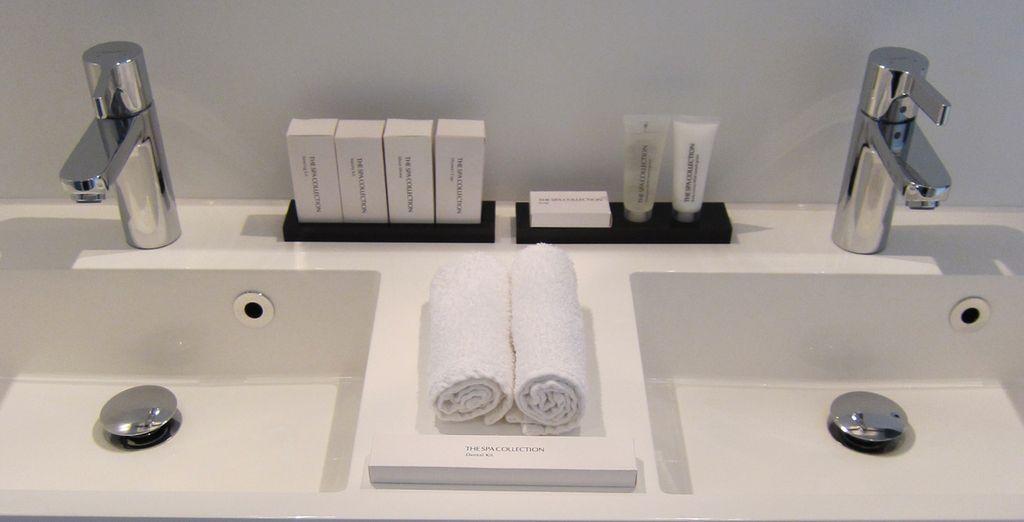 Et profiterez d'une agréable salle de bains
