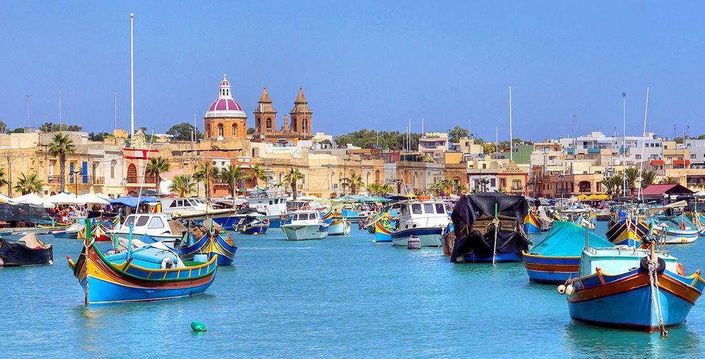 Photographiez le port coloré de la Valette à Malte