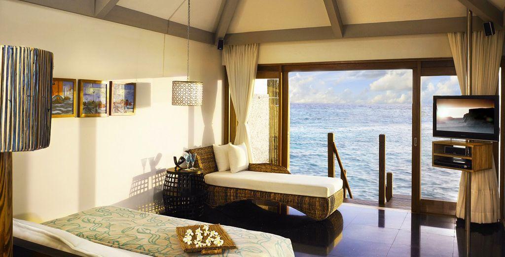 Avec une vue imprenable sur la mer depuis votre chambre...