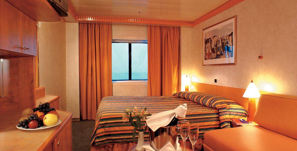 Confortablement installé en cabine Extérieure Premium
