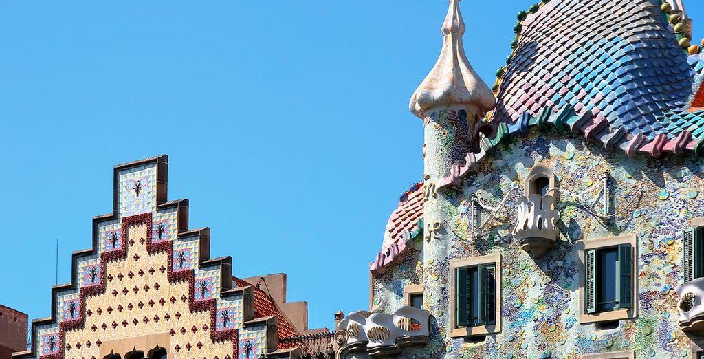 Architecture unique de Barcelone et le parc de Guëll