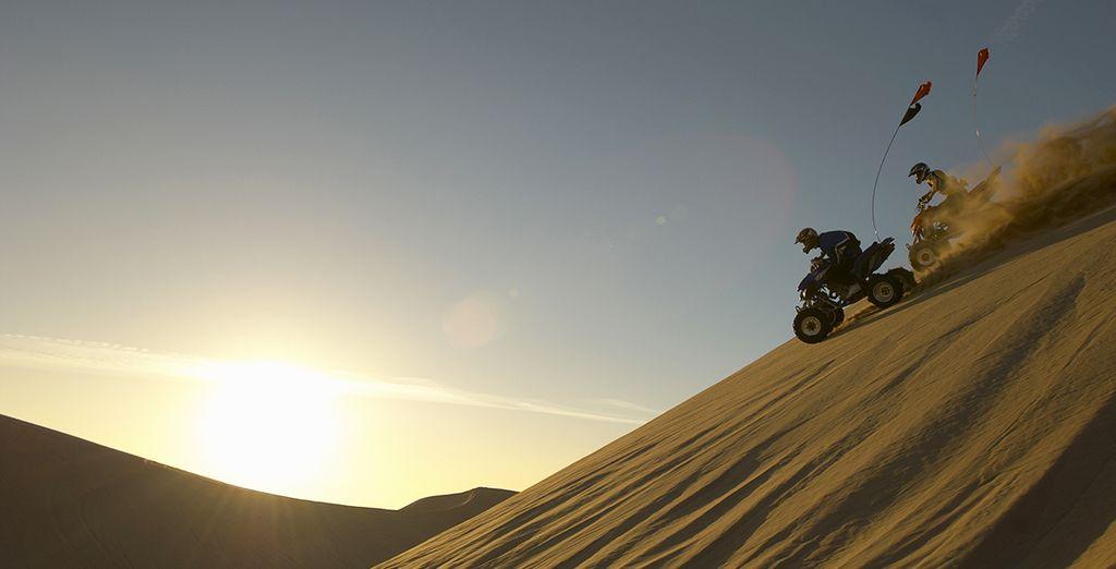 Virée en quad sur le sable...