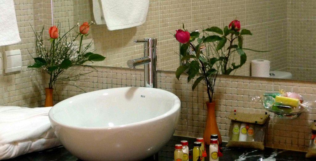 Votre salle de bains fleurie
