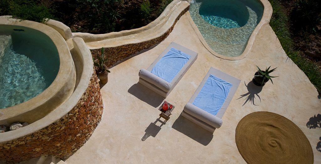 Et une piscine privée !
