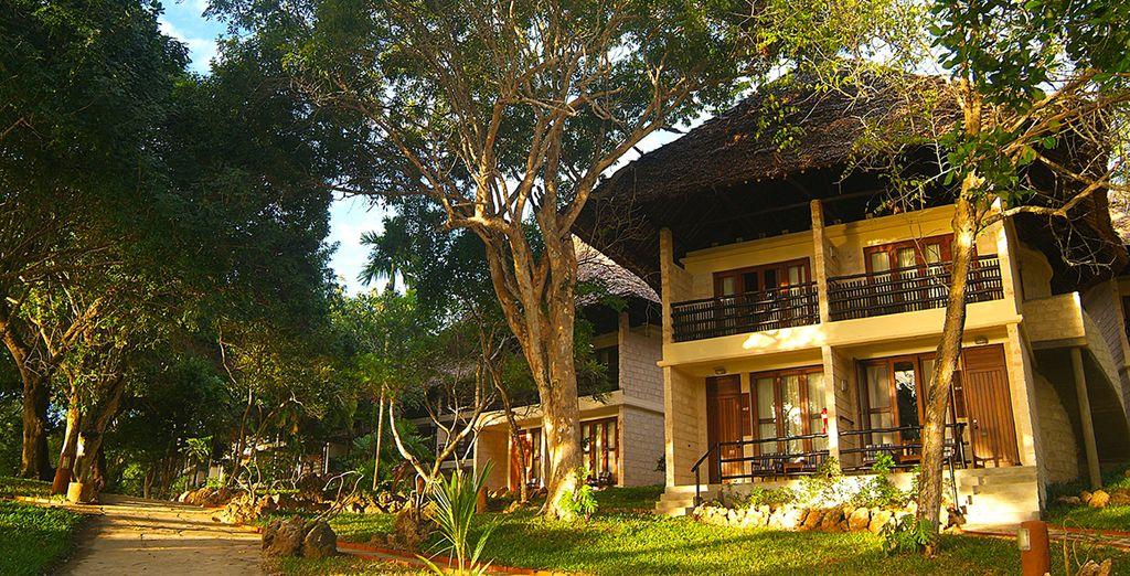 Un éco-hôtel responsable niché dans la végétation luxuriante