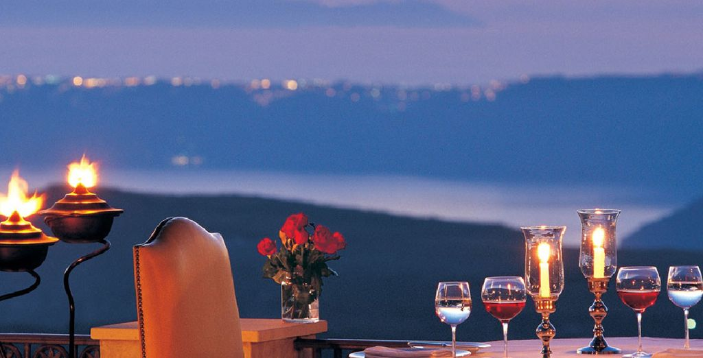 Appréciez un dîner en terrasse