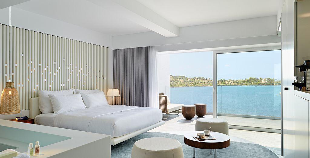 Séjournez dans une chambre à la décoration moderne et élégante