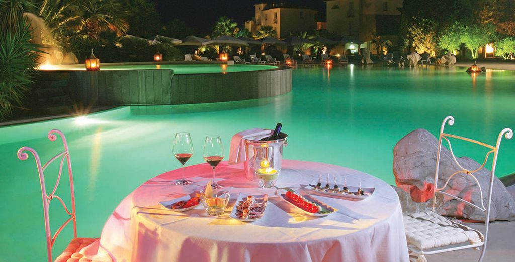 Et vous délecter des spécialités sardes, sur la terrasse...