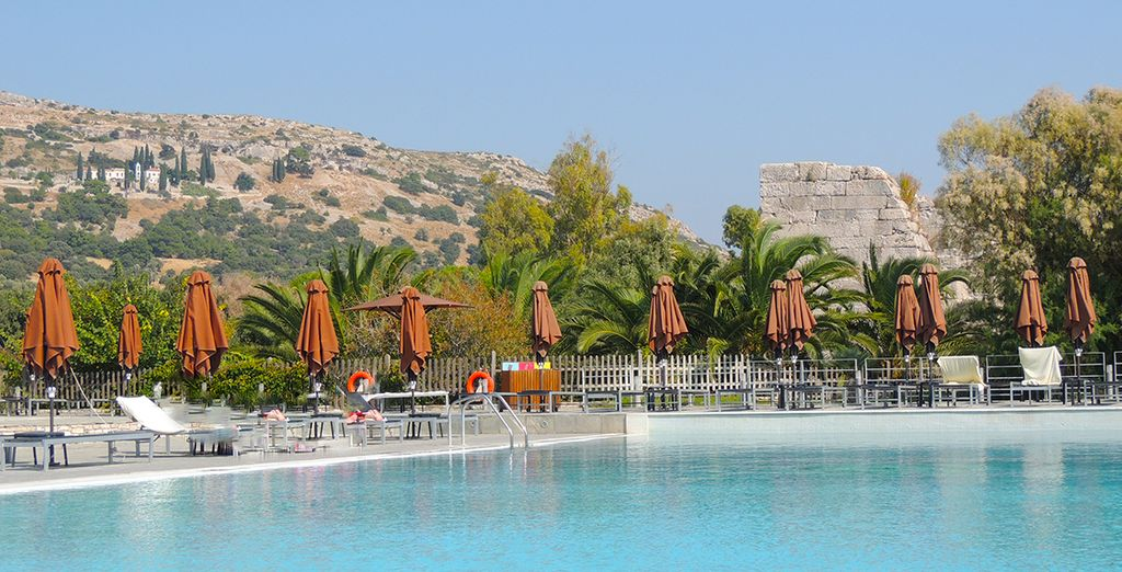 Pour prendre un bain dans la piscine, située dans la partie hôtel du resort