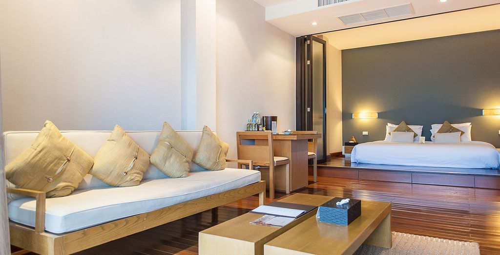 Une suite confortable et luxueuse, à la vue sensationnelle