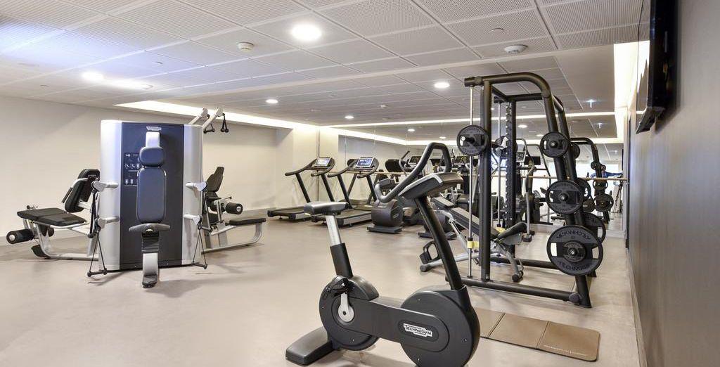 De retour à l'hôtel, faites un peu d'exercice à la salle de fitness