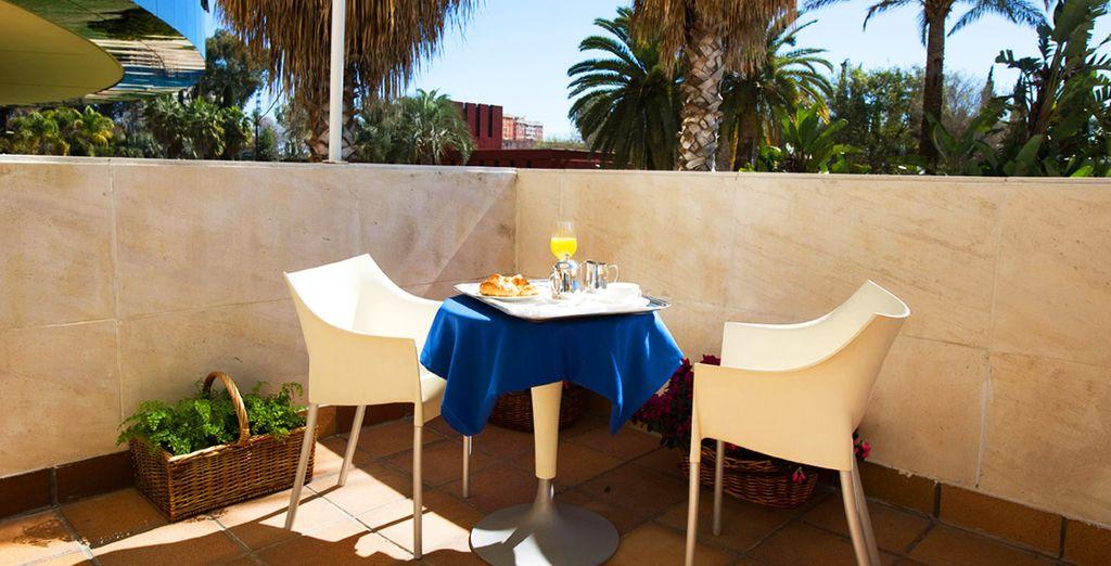 Avec terrasse où vous apprécierez la douceur du climat dès le lever du jour