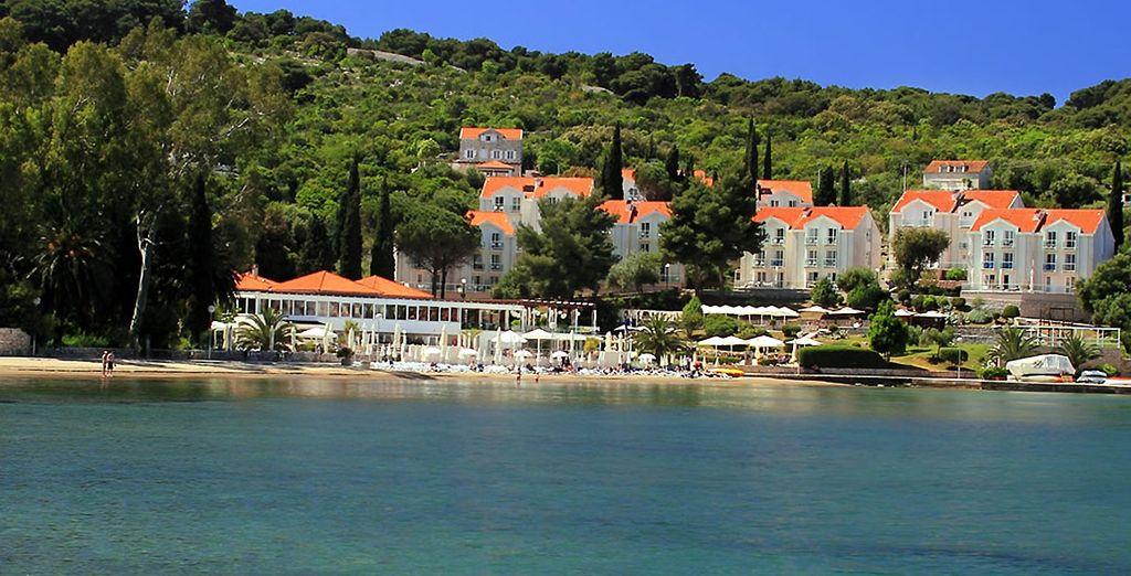 Découvrez le seul hôtel de l'île de Kolocep, une île calme et préservée...