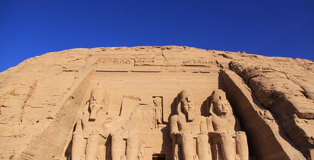 Le majestueux temple d'Abou Simbel...