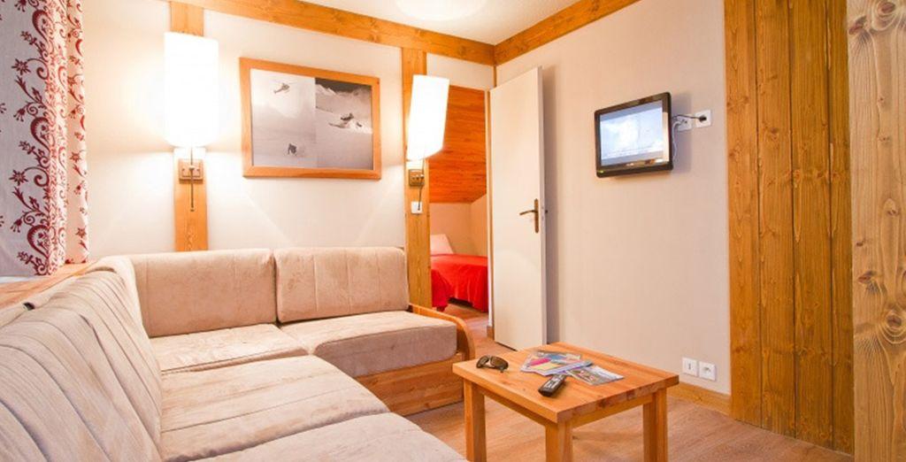 La résidence Les Chalets de Montchavin vous accueille dans des logements agréables