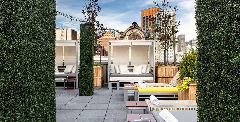 Le toit terrasse vous offrira une incroyable vue