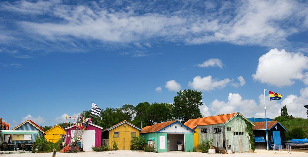 Ou encore une vue de la pittoresque île d'Oléron. Passez un beau séjour en Charente