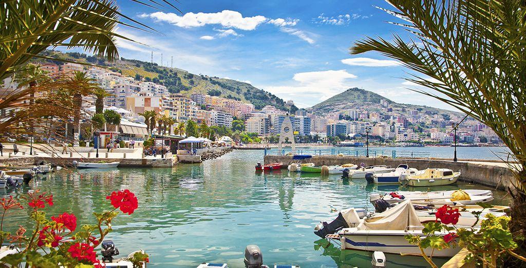 Photographie de la ville de Durrës en Albanie, face à la mer Adriatique