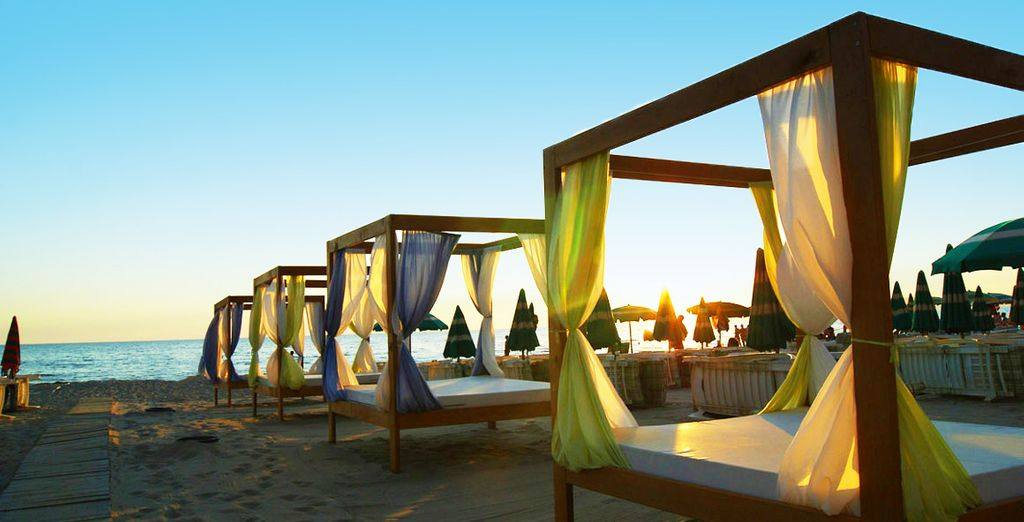 Hôtel haut de gamme quatre étoiles, tout confort en bord de plage avec espace détente