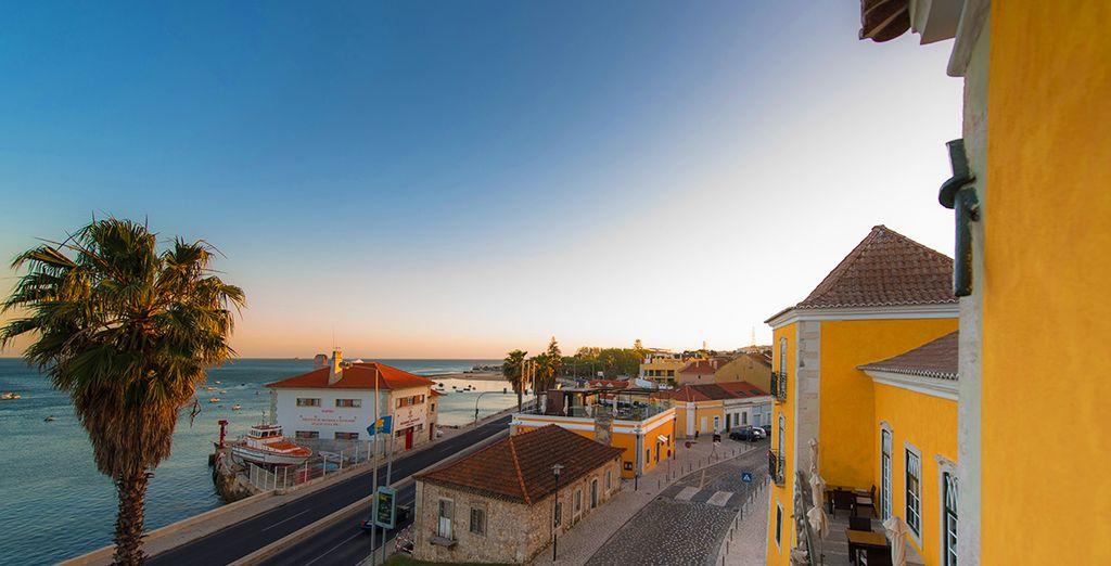 En séjournant près du Tage, sur la côte lisboète, au sein du Palacio dos Arcos