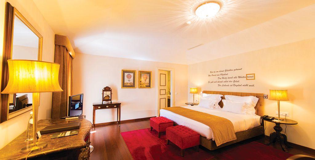 Vous découvrirez une chambre spacieuse et confortable