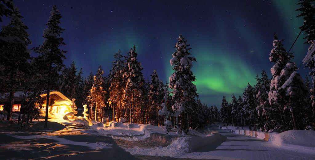 Découvrez les aurores boréales de Laponie