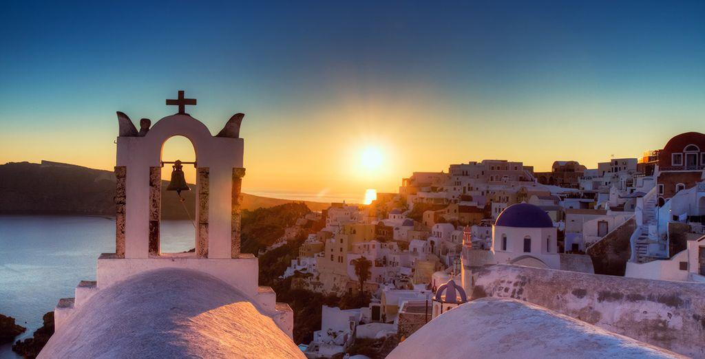 ... le temps de vos vacances sur l'île de Santorin?