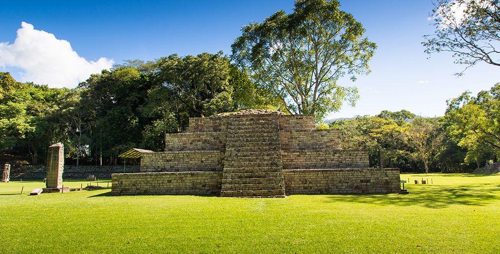 Vous débuterez votre séjour en découvrant le site de Copan au Honduras