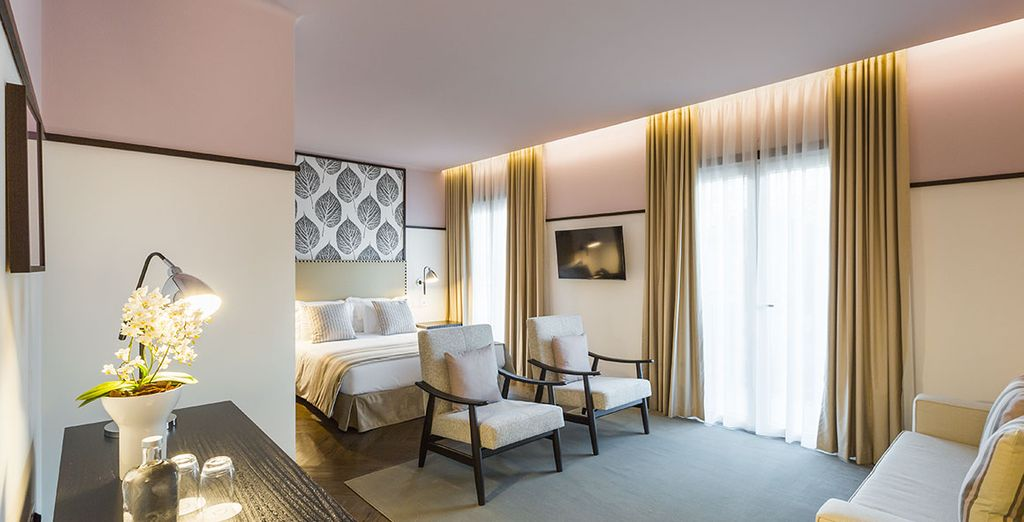 Installez-vous dans une chambre confortable et accueillante