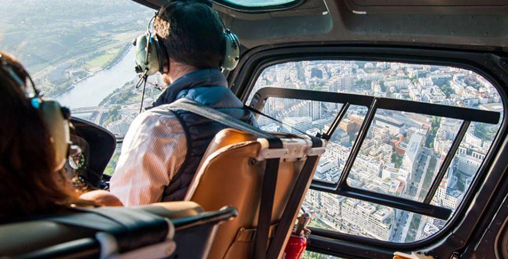 A bord d'un hélicoptère...