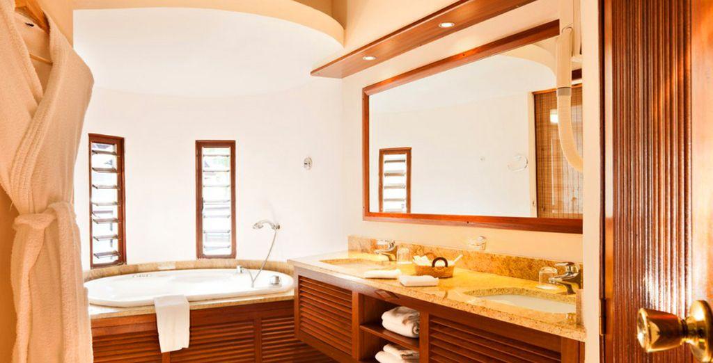 Spacieuse et élégante jusque dans la salle de bains