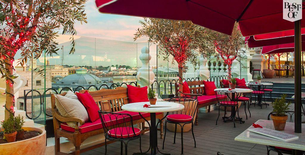Hôtel de charme au cœur de Madrid avec espace détente vue panoramique sur la capitale espagnole