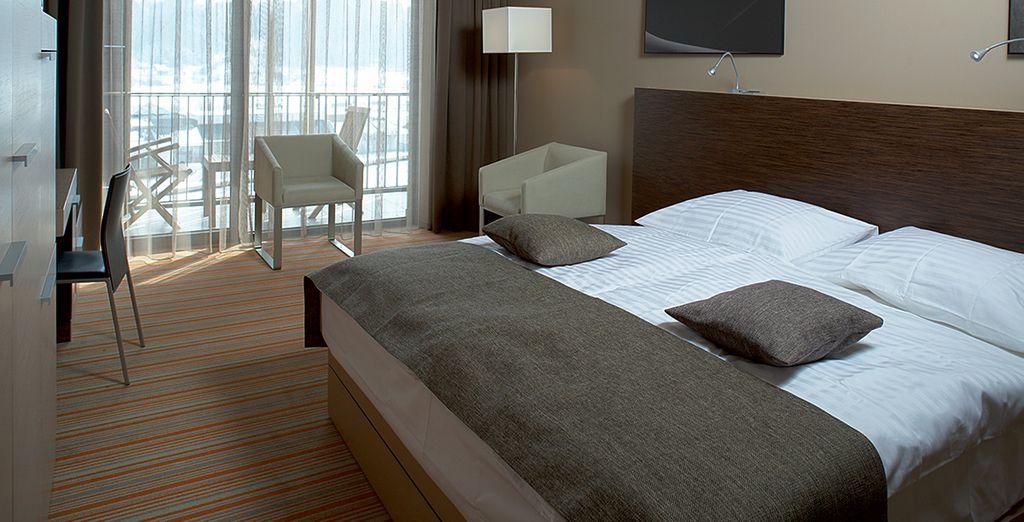 Vous vous reposerez après une journée inédite dans votre chambre confortable