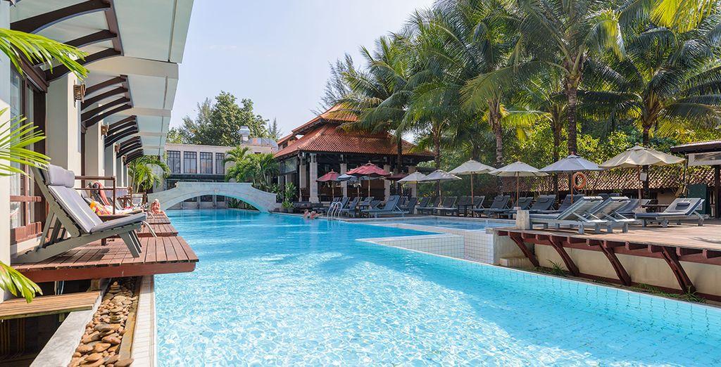 Découvrez le cadre idéal entre piscine et jardins luxuriants